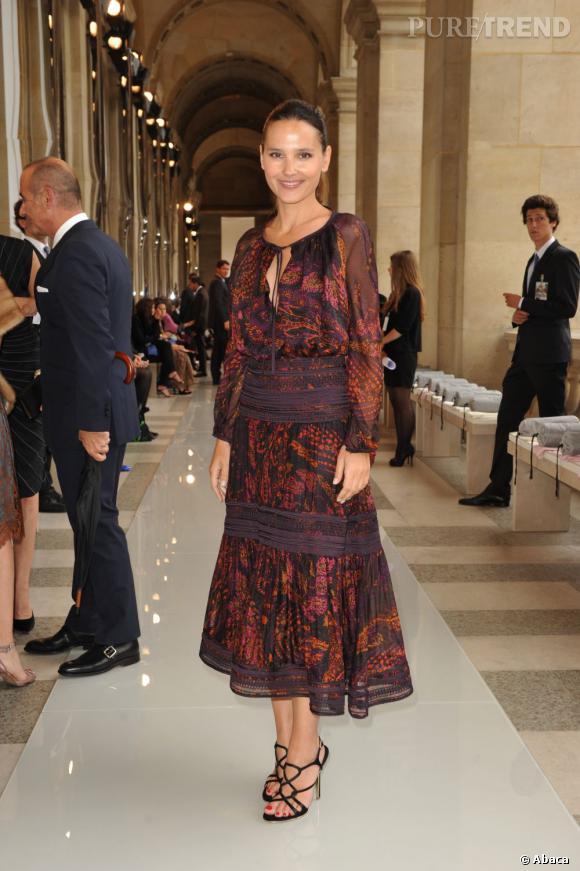 Virginie Ledoyen lors du défilé Salvatore Ferragamo au Louvre à Paris.