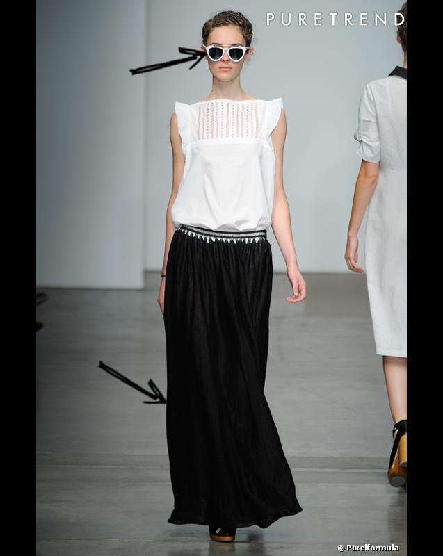 comment porter la jupe longue cet t 2012 20 inspirations. Black Bedroom Furniture Sets. Home Design Ideas