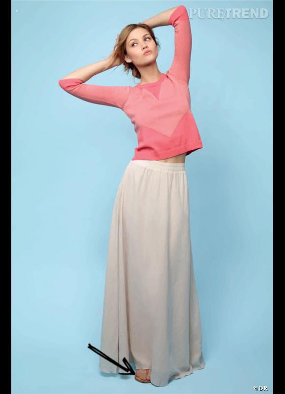 Comment adopter la jupe longue cet été 2012   Comme chez Ekyog on adopte la  jupe 5b2650da8da