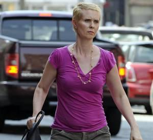 Cynthia Nixon, no look dans les rues de New York.