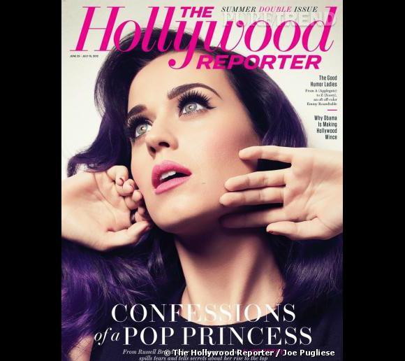 """Katy Perry en couverture du magazine """"The Hollywood Reporter"""" pour le numéro de juin/juillet 2012."""