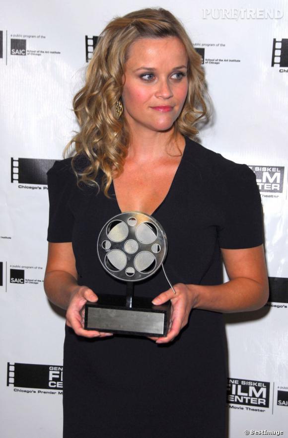Reese Witherspoon enceinte à un gala à Chicago.