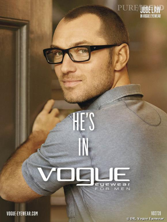 Jude Law nouveau visage de la marque Vogue Eyewear pour hommes.