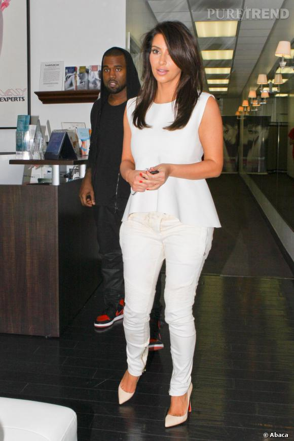 Kim Kardashian et son homme, Kanye West à Los Angeles.