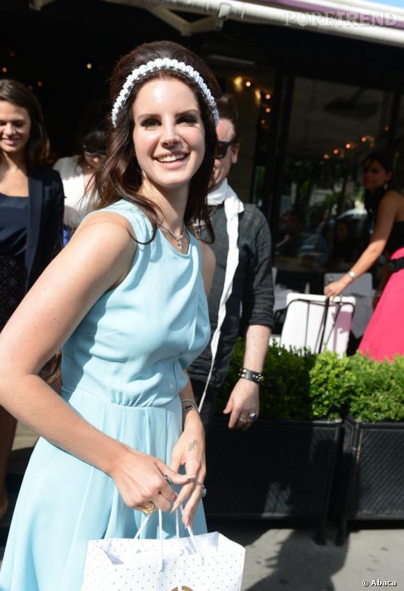 Lana Del Rey à Paris pour la Fashion Week.
