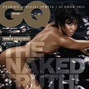 Lorsqu'elle fait la couverture du magazine masculin GQ édition britannique, Naomi Campbell ne fait pas les choses à moitié.