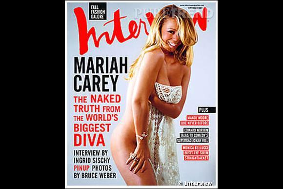Interview affiche les courbes de Mariah Carey. Lorsqu'elle fait la couv' la diva ne fait pas les choses à moitié.