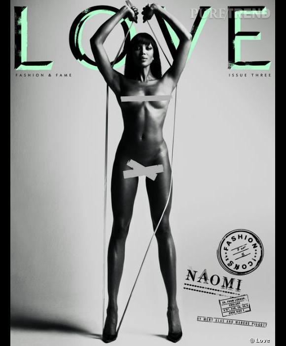 Naomi Campbell, la panthère noire se met à nu.
