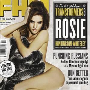 Rosie Huntington-Whiteley affiche ses courbes de femme fatale pour FHM.