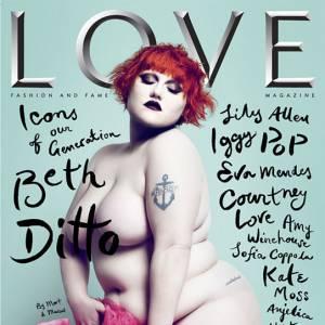 Le Love magazine aime toutes les femmes et met même Beth Ditto à l'honneur, nue.