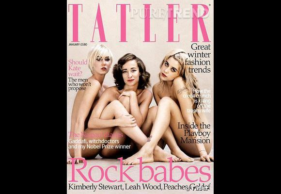 Les filles de rockeurs Kimberly Stewart et Leah Wood jouent la carte de la provocation en prenant la pose nues pour Tatler. Peaches Geldof en profite pour dévoiler ses tatouages.