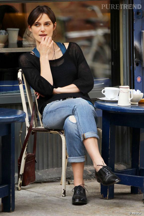 Même sans make-up, Keira Knightley nous charme.