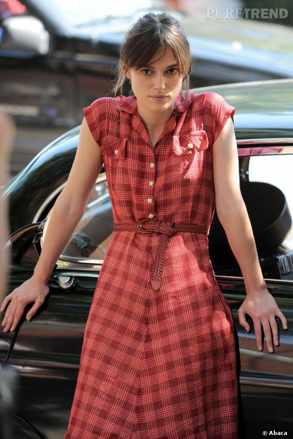"""Keira Knightley sur le tournage de """"Can a Song save your life ?"""" à New York."""