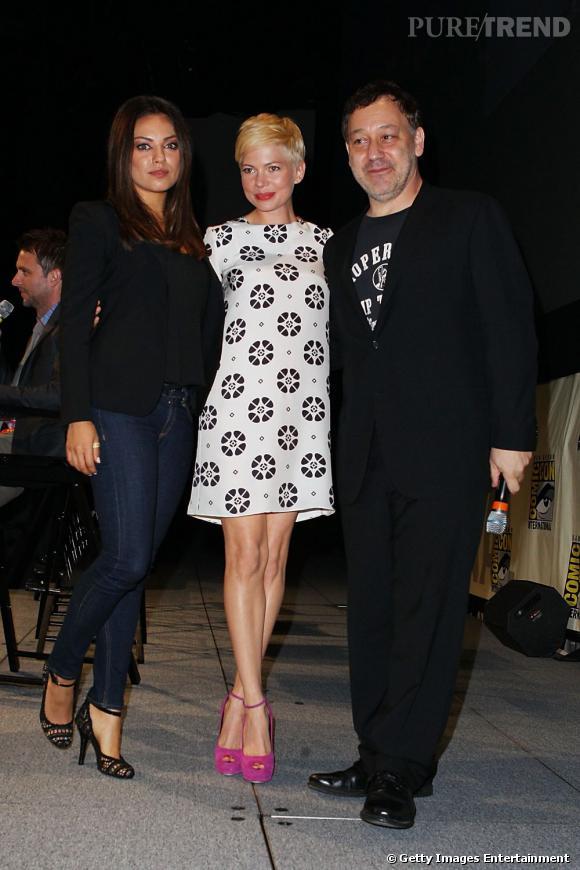 """Mila Kunis et Michelle Williams, un duo de choc pour présenter """"Le magicien d'Oz""""."""