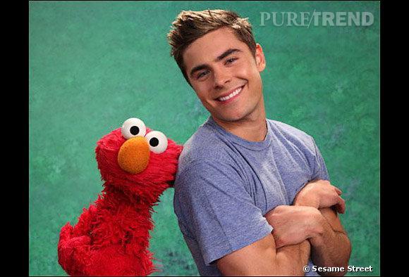 Zac Efron apparaitra dans l'émission Sesame Street, avec la célèbre marionnette Elmo !
