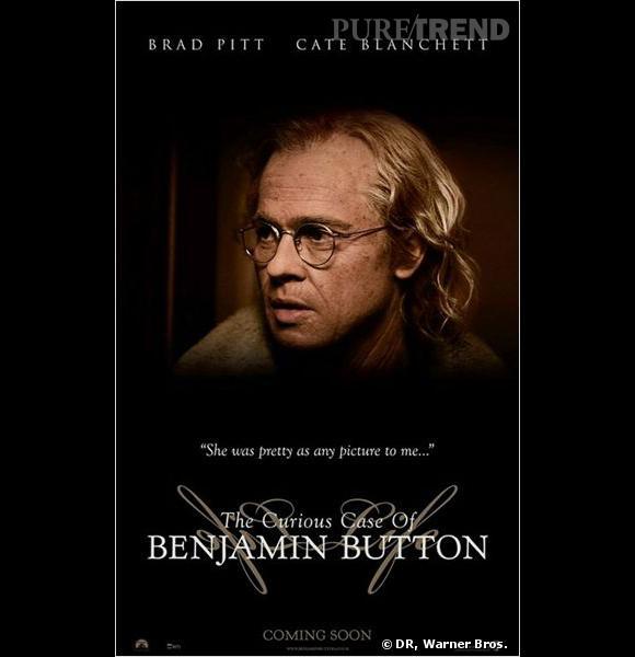 """Dans """"L'Etrange histoire de Benjamin Button"""", Brad Pitt incarne un homme né vieillard et qui rajeunit au fil des années. Le résultat est saisissant."""