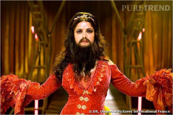 """Dans """"L'Assistant du vampire"""", la belle Salma Hayek est affublée d'une barbe. On a vu mieux pour le sex-appeal."""