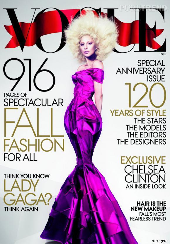 Lady Gaga décroche la couverture du september issue de Vogue Us.