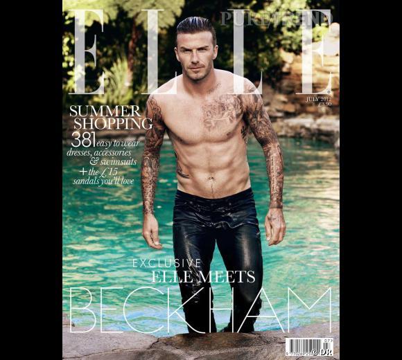 David Beckham a eu droit à 3 couvertures pour le ELLE UK ! Mais celle où il montre ses abdos est évidemment la plus sexy !