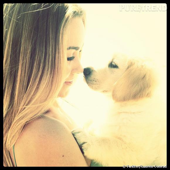 Lauren Conrad parfaitement assortie à son chien.