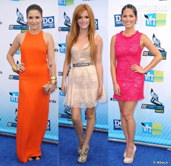 Sophia Bush, Bella Thorne et Olivia Munn ont misé sur le monochrome pour briller sur le tapis bleu des Do Something Awards.