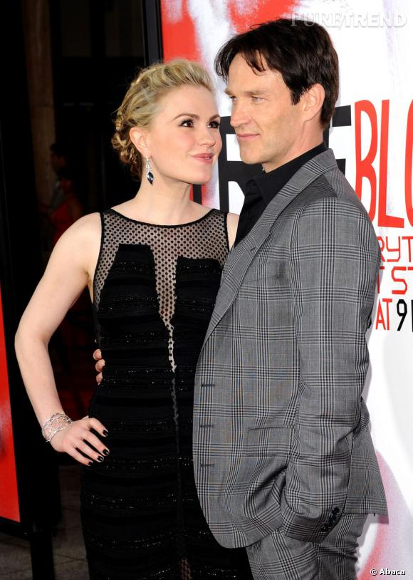 """Anna Paquin et Stephen Moyer, les stars de """"True Blood""""."""