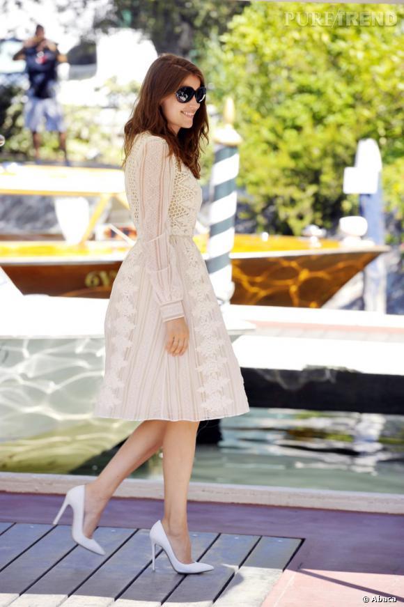 Laetitia Casta à Venise, un membre du jury glamour.