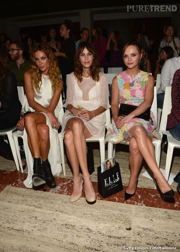 Erin Wasson, Alexa Chung et Christina Ricci chez Elle Fashion.