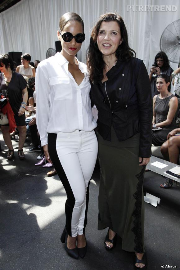 Alicia Keys et Ali Hewson (la femme de Bono) au show Edun.