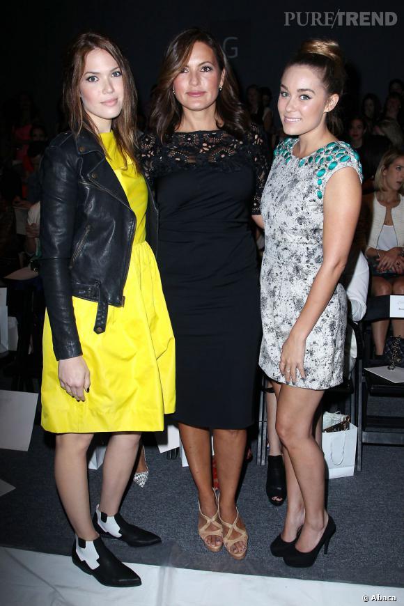 Mandy Moore, Mariska Hargitay et Lauren Conrad chez Lela Rose.
