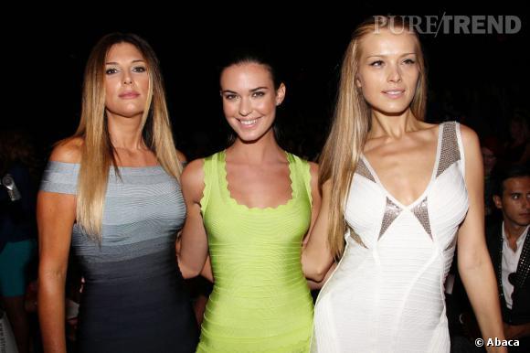 Daisy Fuentes, Odette Annable et Petra Nemcova chez Hervé Léger.