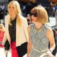 Maria Sharapova et Anna Wintour viennent voir le défilé de Victoria Beckham.