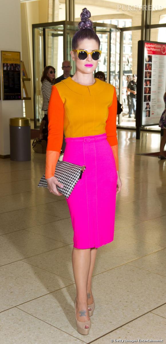 La star a choisi la robe la plus colorée du créateur Chris Benz.