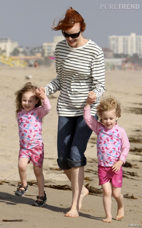 Marcia Cross, toujours accompagnée de ses adorables jumelles.
