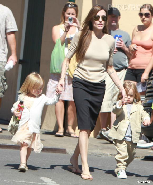Évidemment, comment passer à côté d'Angelina Jolie et ses adorables Vivienne et Knox.