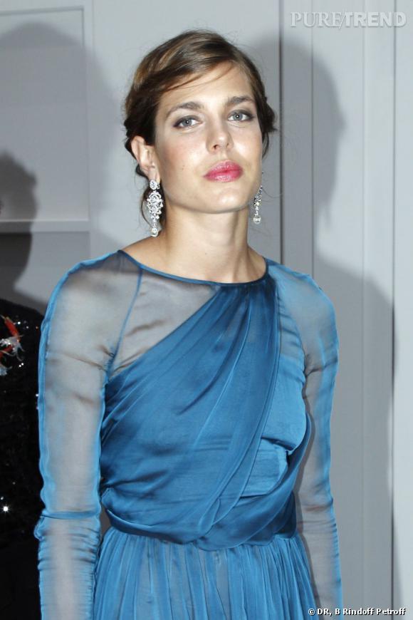 Charlotte Casiraghi parée par Cartier.