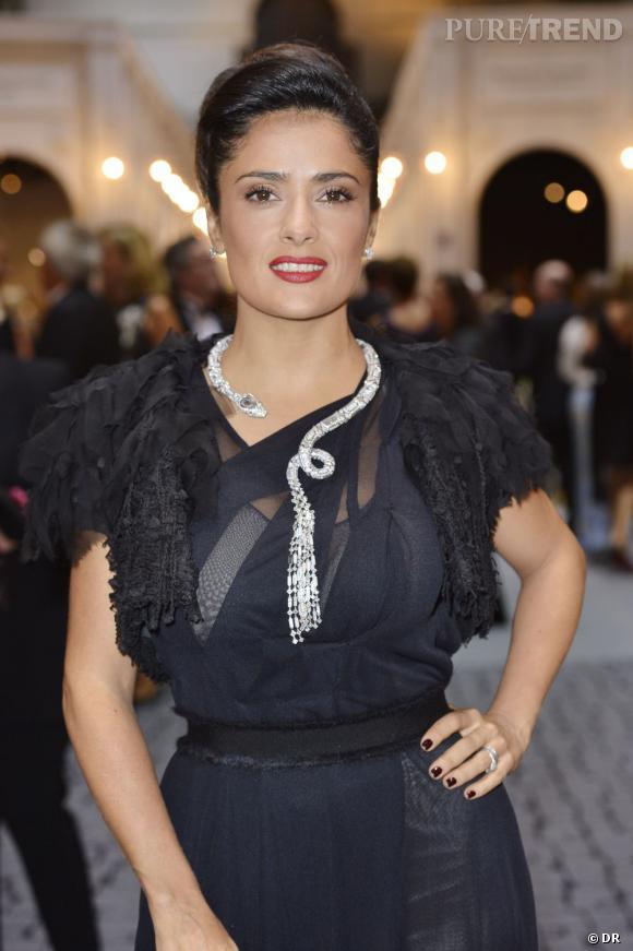 Salma Hayek parée par Boucheron.