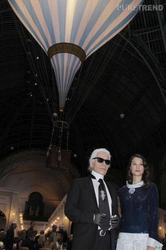 Karl Lagerfeld et Astrid Berges Frisbey