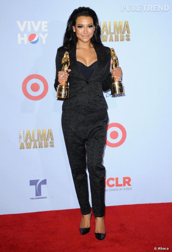 """Naya Riviera remporte quant à elle deux trophées pour son talent de chanteuse et son rôle dans """"Glee""""."""