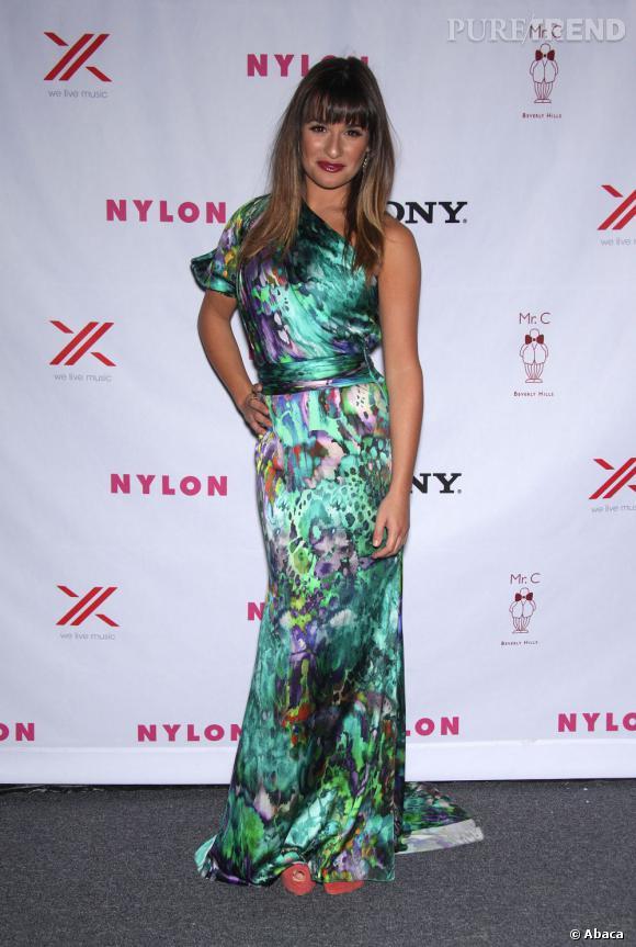Lea Michele à la soirée organisée par le magazine NYLON à Los Angeles, le 15 sepembre dernier.