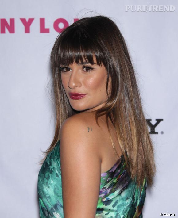 Lea Michele Avait Pourtant Mise Juste Cote Coiffure Avec Une Jolie