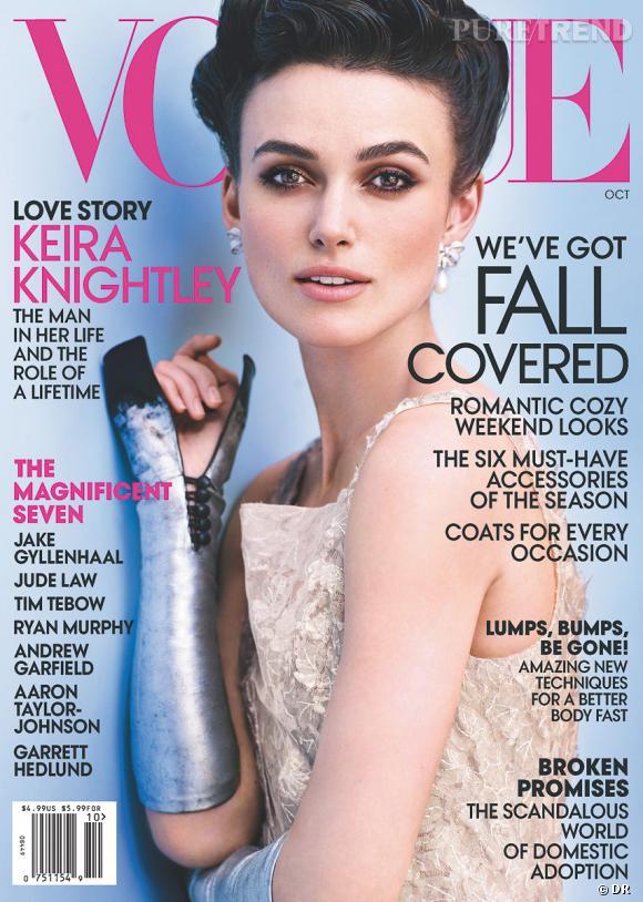 Keira Knightley pour Vogue Us.