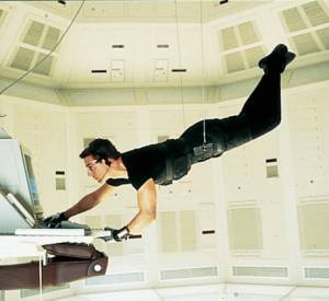 "Tom Cruise dans ""Mission impossible""."