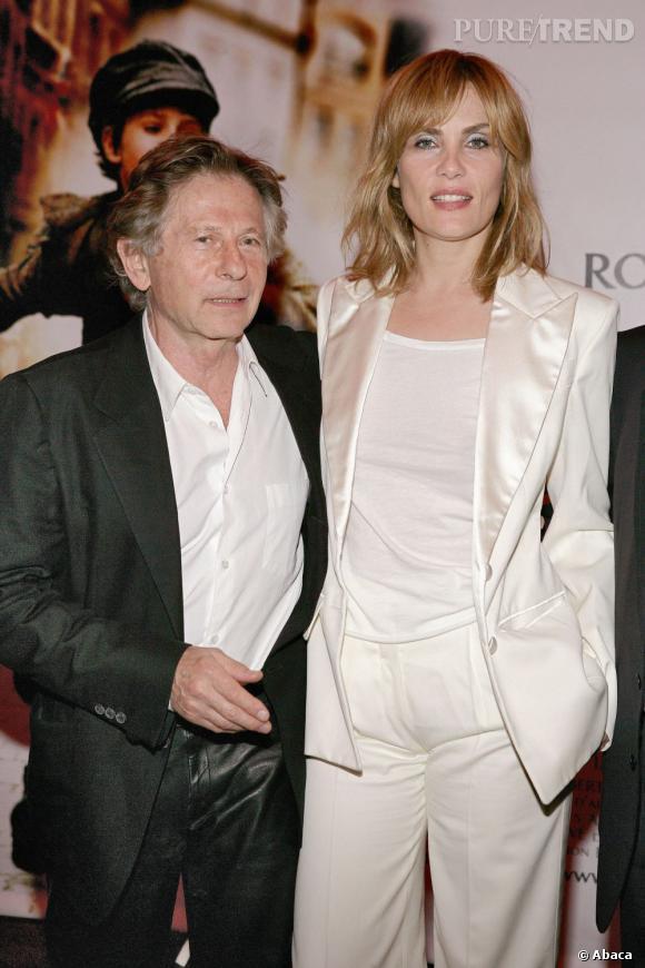 Emmanuelle Seigner et Roman Polanski, un couple glamour.