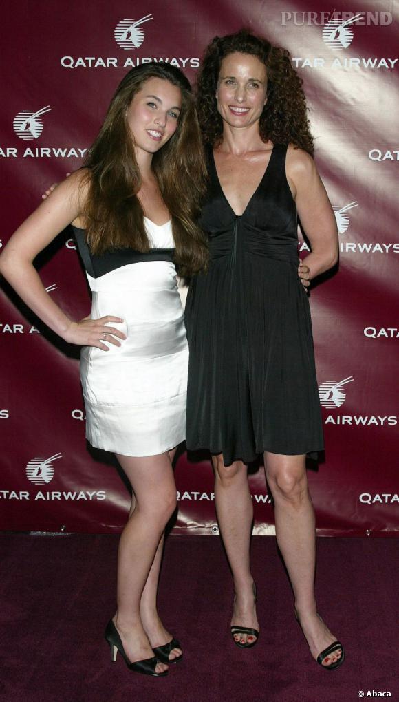 Andie Macdowell et sa fille : deux silhouettes de top modèles.