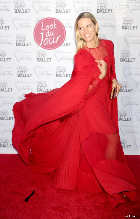 Karolina Kurkova à l'occasion du bal d'automne organisé par le New York City Ballet au Lincoln Center.