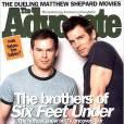 Michael C.Hall et Peter Krause font la couverture de The Advocate.