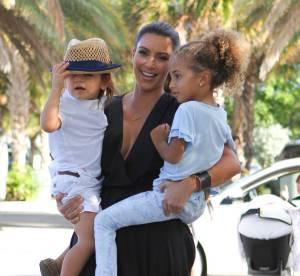 Kim Kardashian : robe informe pour un baby-sitting en famille... Le flop mode