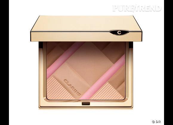 Colour Accents Poudre Teint & Blush de Clarins, 38 €.