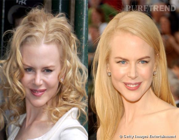 Version cheveux lisses ou bouclés, on hésite. Allez, on vote pour le bouclé, qui nous rappelle les débuts de Nicole Kidman.